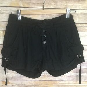 Free People black cotton shorts SZ 0